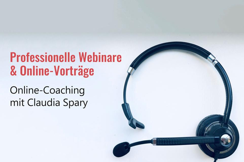 Online-Coaching für Online-Vorträge & Webinare Claudia Spary NEU