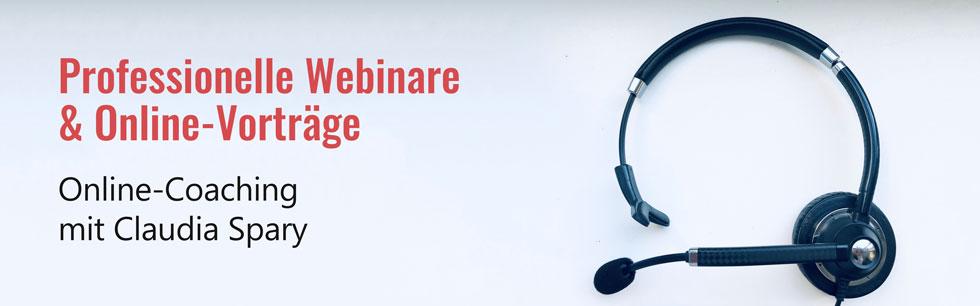 Online-Coaching für Online-Vorträge & Webinare